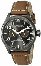 Invicta 18513 I-Force Men's 45mm Stainless Steel Gunmetal Brown Leather Watch