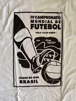 Men's Brasil Futebol Short Sleeve Soccer Shirt Brazil FIFA NEW NWT 3XL white