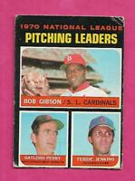 RARE 1971 OPC # 70 CUBS FERGIE JENKINS LEADERS GOOD CARD (INV# C2420)