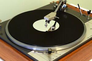 Matt Black & Mirror Premium Acrylic Turntable Platter Mat. fits LENCO!