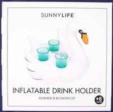 NIB Sealed Sunnylife Inflatable Swan Drink Holder, PopSugar Must Have