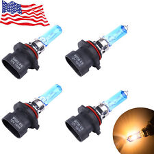 4x 9005XS + 9006XS 12V 100W 6000K  White XENON HID HALOGEN Headlight Bulbs US