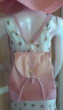 FURLA Super Rare Pink Blush Satin & Leather Backpack - NWT