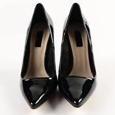 Topshop Black Patent Leather Dress Stiletto Heels Pumps Shoe Sz 36 (5.5 US)