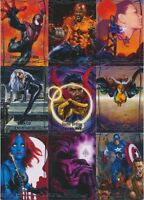 2015 (2016) Marvel Masterpieces #/1999, #/1499 & #/999 BASE Pick from List