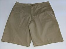 """O'Neill Mens Relaxed Fit Flat Front 10"""" Khaki Shorts Size 38 NWOT"""