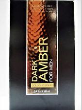 Bath Body Works DARK AMBER for Men Cologne Spray, 3.4 oz/100 mL, NEW