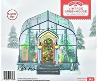 Holiday Time Vintage Christmas Green House, Lights Up