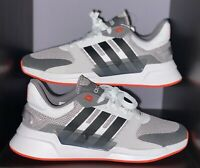 Adidas Boost Run 90s Trainer • Grey/Solar Red/ Suede • Men's Size 10.5