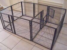 Margothedog Puppy Exercise Pen Modular Dog Cage 10 panels & 1 door