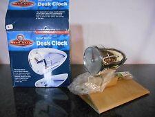 John Bull Garage Bullet Mirror Torpedo Desk Clock  154700 Ratrod Custom