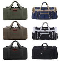 Vintage Men Women Large Duffle Bag Sports Gym Travel Luggage Shoulder Handbag