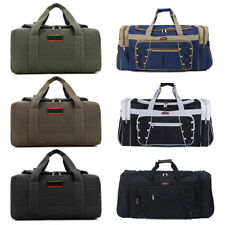 Vintage Men Women Large Duffle Bag Sports Gym Travel Luggage Shoulder Handbag