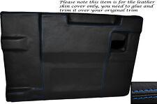 BLUE Stitch Posteriore PORTELLONE Porta Carte Pelle Copertura si adatta LAND ROVER DEFENDER 83-14