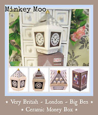 Quirky Very British London BIG BEN Ceramic Money Box Piggy Bank Birthday Gift
