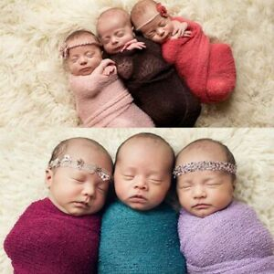 Baby Blanket Wraps Photography Props Stretch Knit Wrap Newborn Photo Wraps Cloth
