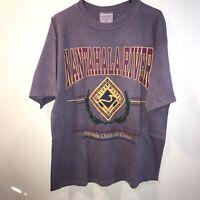 Vintage 90s Nantahala River Tourist Crew Neck  Single Stitch Purple Tee Shirt