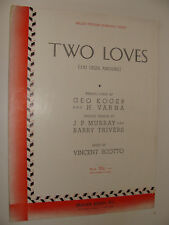 Two Loves J'ai Deux Amours French / English 1931 Vincent Scotto piano
