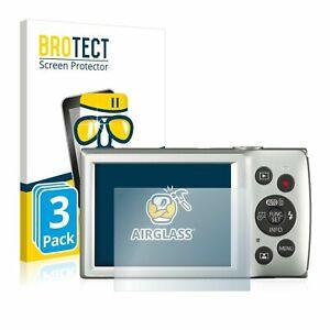 Canon Digital Ixus 185 , 3 x BROTECT® AirGlass® Premium Glass Screen Protector
