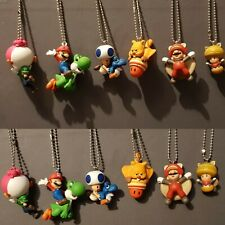 Super Mario keychain figures TOMY LUIGI toad baby yoshi squirrel SUPER ACORN