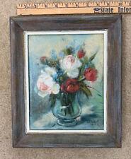 "Art Painting Original Floral Impressionism Rose Flower Painting Petite 10"" x 12"""
