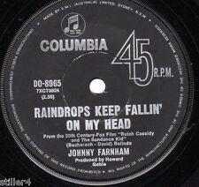 "JOHNNY FARNHAM Raindrops Keep Fallin´On My Head *AUSTRALIA ORIGINAL COLUMBIA 7""*"