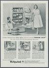 Hotpoint Refrigerator Freezer Big Bin Magazine Print Ad 1956 photo