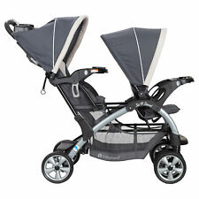 Baby Trend Sit N' Stand Easy Fold Travel Toddler Baby Double Stroller, Magnolia