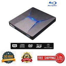 External Bluray DVD Drive USB 3.0 and Type-C Blu-Ray 3D Slim Optical Laptop Desk
