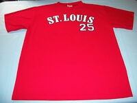 Vintage MARK McGWIRE #25 St. Louis Cardinals Jersey XL Extra Large Sport Attack