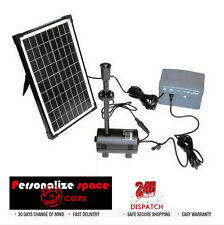 10W Solar Power Fountain/Pond/Pool Water Feature Pump Kit with Timer & LED Light