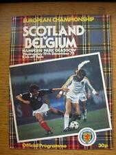 19/12/1979 Scotland v Belgium [At Hampden Park] (Worn On Cover). Item In very go
