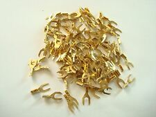 Antique telephone gold lugs 100 pc self piecring for plastic wire  OLD phones