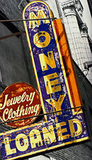 Pawn Dealer Money Loaned Vintage Neon Sign Hand Colored Photo Art Retro Decor