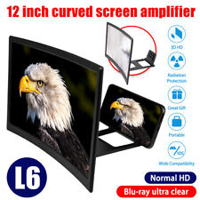12 inch Cell Phone Movie Curved Screen Enlarge Magnifier HD Projector Amplifier
