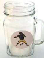 Pittsburgh Steelers Ben Roethlisburger Mason Jar Mug-16oz-Set includes lapel pin