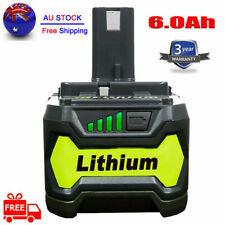 18V 6.0AH For Ryobi One+ Plus P108 Lithium Battery RB18L50 P104 P780 RB18L40