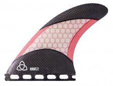Carbon Fiber Surfboard Fins, Futures Compatible (Set of 3), Medium Red