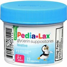 3 Pack - Fleet Pedia-Lax Glycerin Suppositories 12 Each