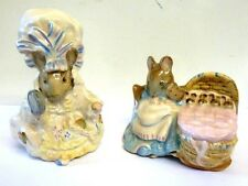 Vintage Royal Albert Beatrix Potter Hunco Munco & Lady Mouse