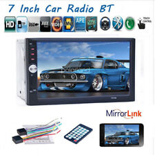 7''2 DIN Touch Screen Car Radio Mirror Link MP5 Player BT Audio FM/TF/USB Stereo