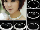 Gilrs Ladies Jewelry Crystal Rhinestone Collar Choker Wedding Party Necklace