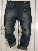 New Diesel Men's Jeans Buster 0854S Regular Slim Tapered Stretch Blue Christmas