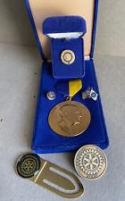 Lot Vintage Rotary International Medal Paul Harris Fellow Lapel Pin Sapphire etc