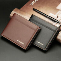 New Bifold Wallet Money Clip Slim Mens Wallet ID Credit Card Holder Case Purse