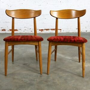 ON SALE! Pair MCM Birchcraft Danish Style Side Chairs by Baumritter