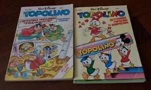 Walt Disney Topolino lotto di 2 fumetti