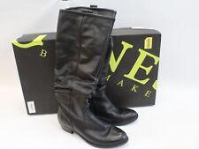 Women's JONES BOOTMAKER Sorella Black Leather Slouch Boots UK5 EU38 - Y92