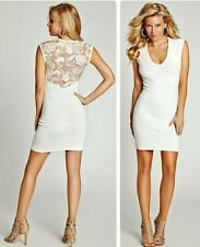 Guess Lace Back Body-con Sweater Dress L
