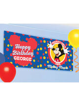 Disney Mickey Mouse Fun to Be One Personalised Banner Kit Party Decoration